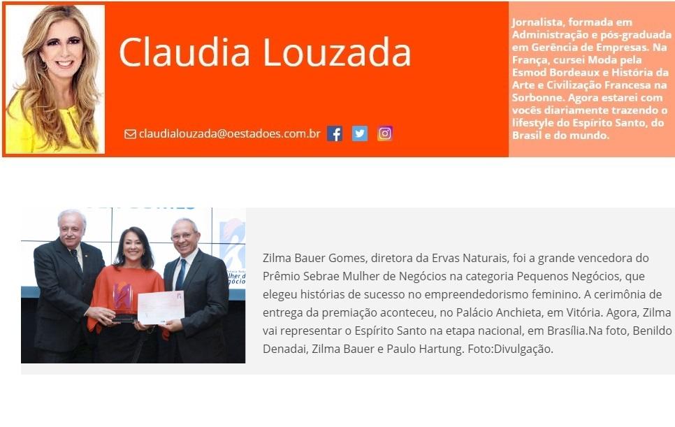 Ervas Naturais - Site O Estado do ES - 29-08-17 - Col. Claudia Louzada